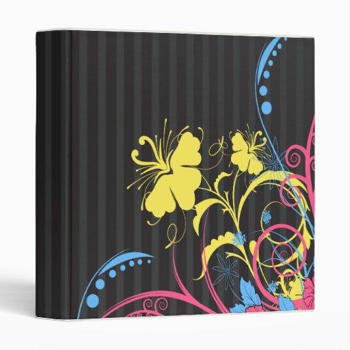 """pasteles en rayas grises y floral-01 abstracto carpeta 1"""""""