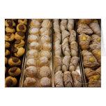 Pasteles italianos tarjeta de felicitación
