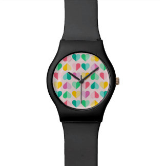 Pasteles multi de los amores en rosa reloj de mano