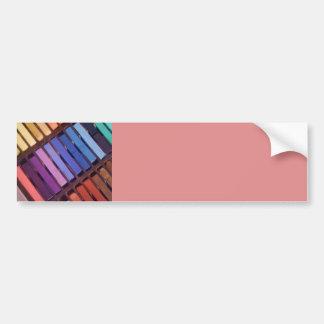 Pasteles suaves de la tiza del artista pegatina para auto