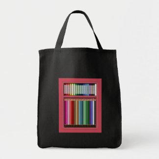 Pasteles y lápices bolsa tela para la compra