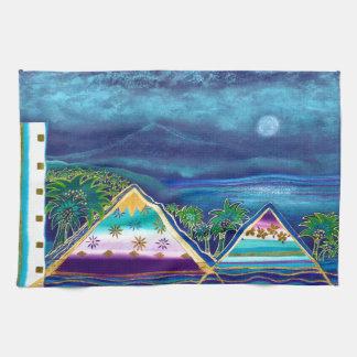 Pastell-Collage-Design Paradise Island Handtücher
