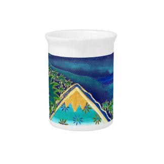 Pastell-Collage-Design Paradise Island Krug