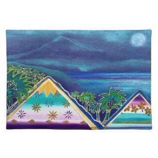 Pastell-Collage-Design Paradise Island Tischsets