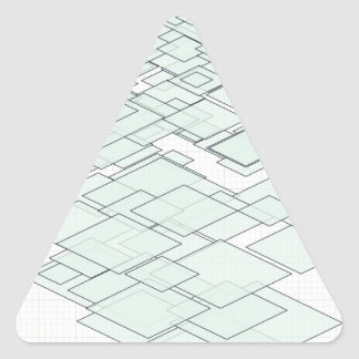 Pastell Diamond graph PAPER SIRAdesign Triangle Sticker