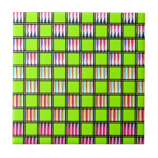 Pastels and Lime Tile