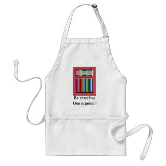 Pastels and pencils adult apron