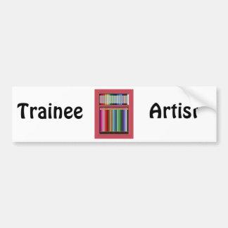 Pastels and pencils bumper sticker