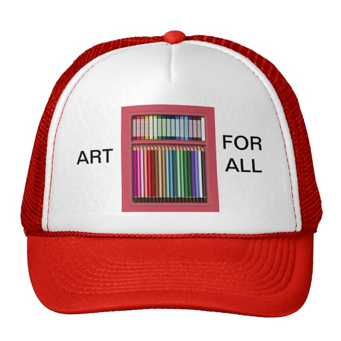 Pastels and pencils trucker hat