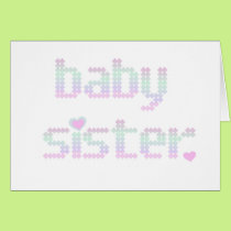 Pastels Baby Sister Card