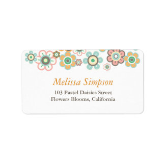 Pastels Daisies Flowers Blooms Baby Address Labels