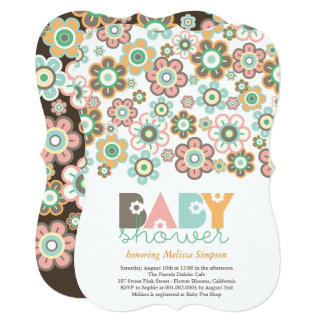 Pastels Daisies Flowers Blooms Baby Shower Invite