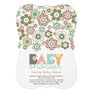 Pastels Daisies Flowers Blooms Baby Shower Invite Personalized Invitations