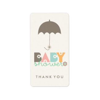 Pastels Daisy Blooms Baby Shower Thank You Labels