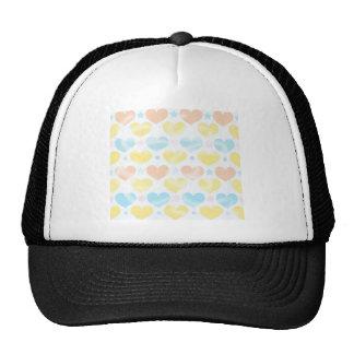 Pastels hearts hats