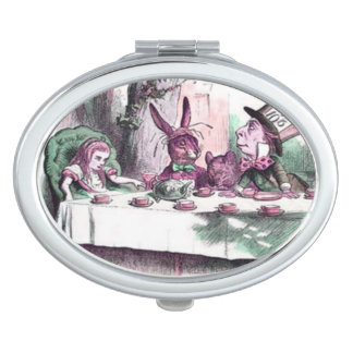 Pastels Mad Tea Party Compact Mirror For Makeup