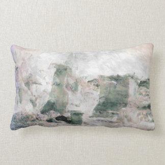 Pastels pink, sage, purple desert landscape throw pillow