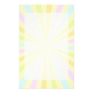 Pastels Spinning Wheel Sun Burst Stationery