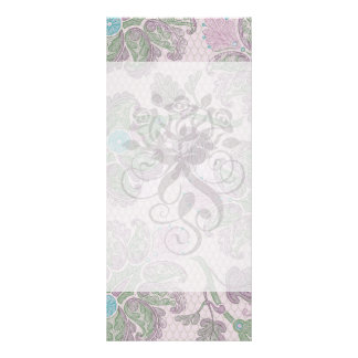 pastels spring floral damask customized rack card