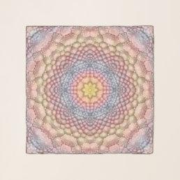 Pastels Vintage Kaleidoscope  Chiffon Scarf