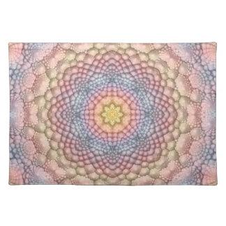 Pastels Vintage Kaleidoscope  Cloth Placemats