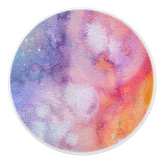Pastels Water Color Ceramic Knob