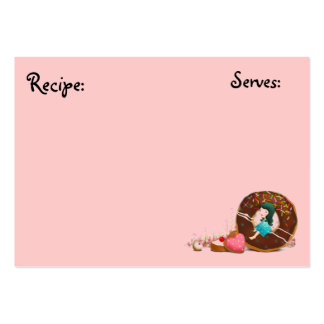 Pastery, tarjeta de la receta de la panadería tarjetas de visita grandes