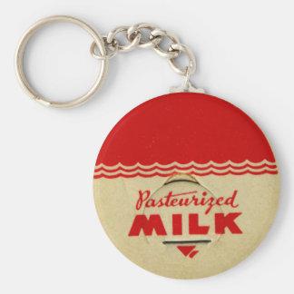 Pasteurized Milk Cap Basic Round Button Keychain