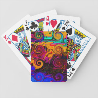 pastiche a bicycle playing cards