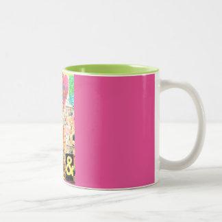 Pastiche of life decoupage mug