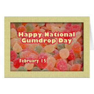 Pastilla de goma día 15 de febrero nacional feliz tarjeta de felicitación