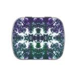 Pastilla de goma púrpura jarrones de caramelos