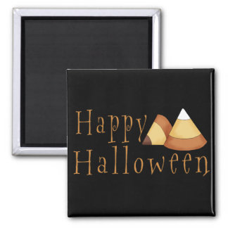 Pastillas de caramelo del feliz Halloween Imán Cuadrado