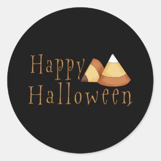 Pastillas de caramelo del feliz Halloween Pegatina Redonda