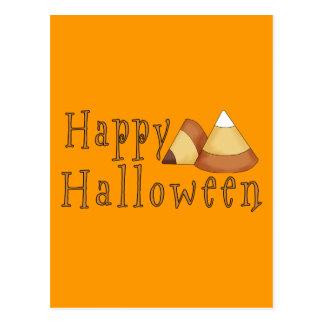 Pastillas de caramelo del feliz Halloween Postal