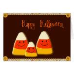 Pastillas de caramelo del feliz Halloween Felicitacion