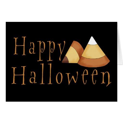 Pastillas de caramelo del feliz Halloween Felicitaciones