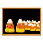 Pastillas de caramelo del feliz Halloween Tarjeton