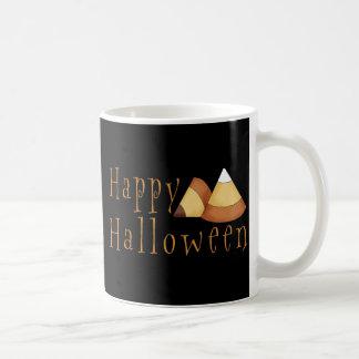 Pastillas de caramelo del feliz Halloween Taza Básica Blanca