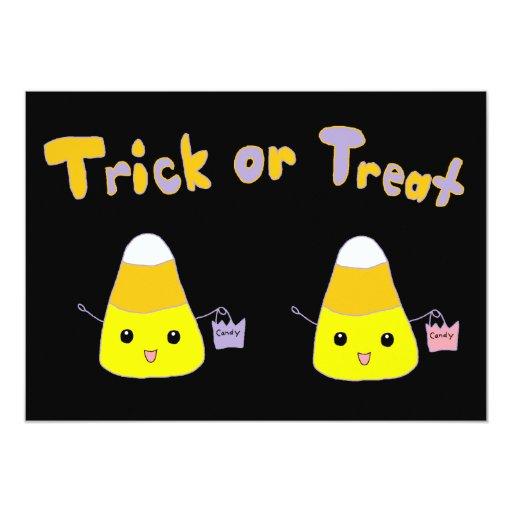 Pastillas de caramelo del truco o de la invitación