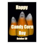 Pastillas de caramelo día 30 de octubre feliz tarjeta de felicitación
