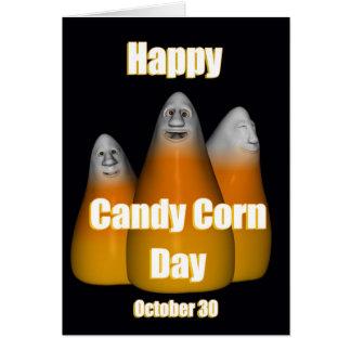 Pastillas de caramelo día 30 de octubre feliz tarjeta