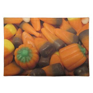 Pastillas de caramelo Placemat del otoño Manteles Individuales