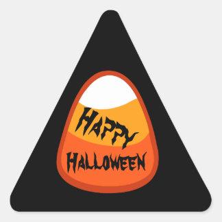 Pastillas de caramelo V02 del feliz Halloween Pegatina Triangular