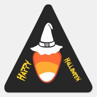 Pastillas de caramelo y gorra V01 del feliz Pegatina Triangular