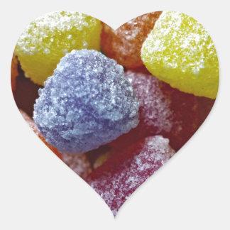 Pastillas de goma de la especia pegatina en forma de corazón