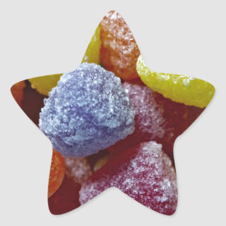 Pastillas de goma de la especia pegatina en forma de estrella