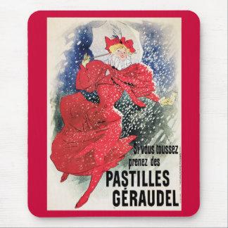 Pastilles Geraudel, 1895 Art Nouveau Mouse Pad