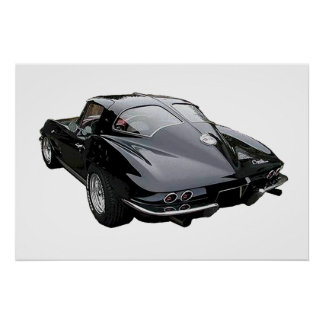 Pastinaca 1963 del Corvette del negro Impresiones