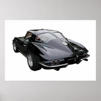 Pastinaca 1963 del Corvette del negro Póster